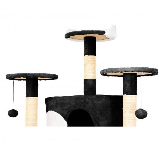 Mačje drevo COOLCAT - Črno / Belo