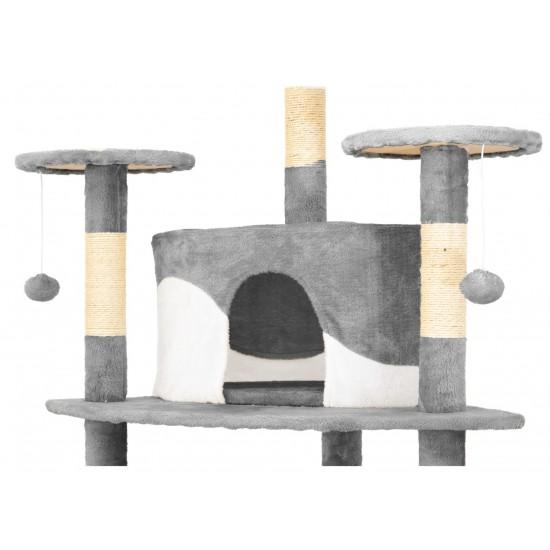 Mačje drevo COOLCAT - Belo / Sivo