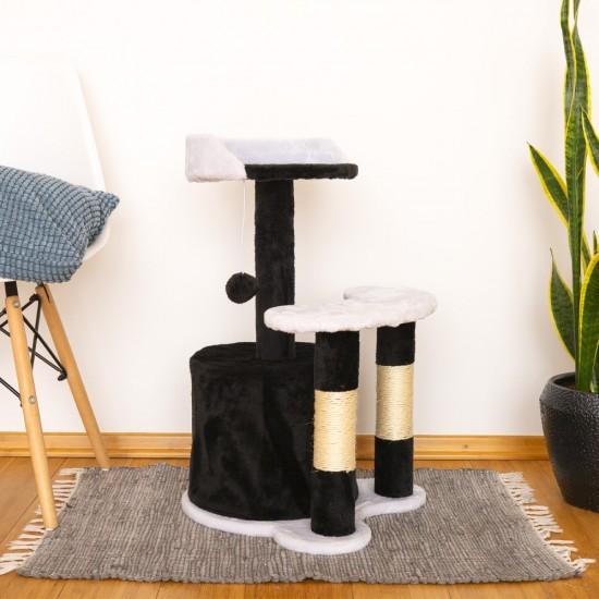 Mačje drevo MINICAT - Črno / Belo