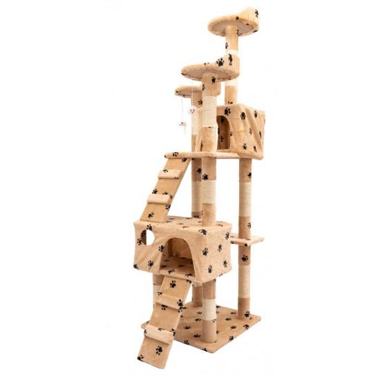 Mačje drevo TOPCAT - Bež tačke