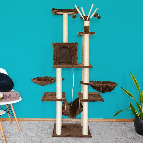 Mačje drevo PlayCat rjavo