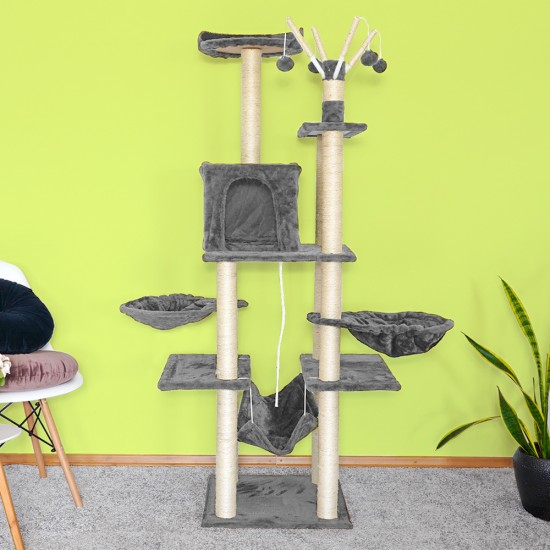 Mačje drevo PlayCat sivo