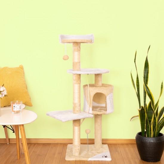 Mačje drevo StreetCat - Bež Belo